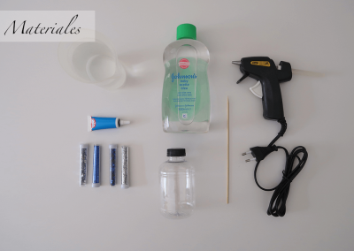 Materiales botellas sensoriales Fondo de Mar