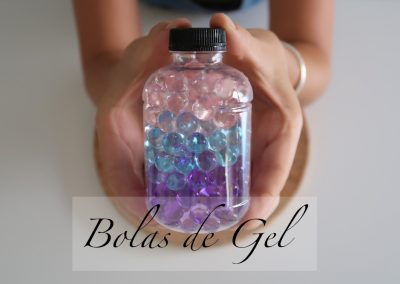 ¡Listo! Ya tenemos las Botellas Sensorial de Bolas de Gel